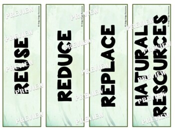 Sustainability Word Wall Posters