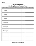 War with Grandpa - Character Traits Chart