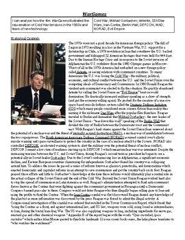 WarGames and the Late Cold War Film Guide