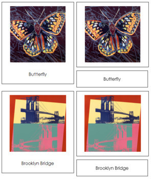 Warhol (Andy) 3-Part Art Cards