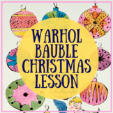 Warhol Bauble Christmas Art lesson worksheet