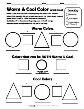 Warm & Cool Color Worksheet