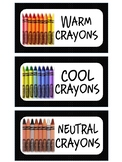 Warm, Cool, & Neutral Art Supply Labels