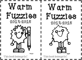 Warm Fuzzies - End of the Year Fun Journal