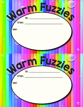 Warm Fuzzies Form