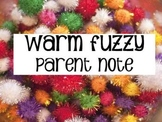 Warm Fuzzies parent note