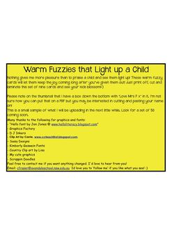 Warm Fuzzies that Light up a Child