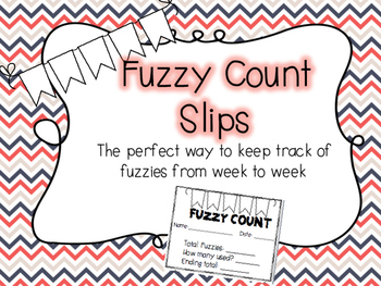 Warm Fuzzy Counting Slips