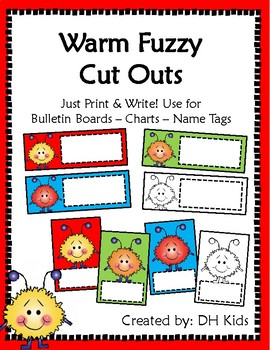 Warm Fuzzy Cut Outs