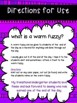 Warm Fuzzy - FREEBIE!