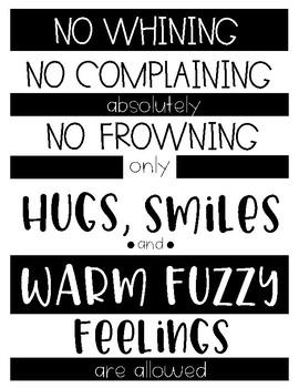 Warm Fuzzy Feelings Poster