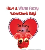 Warm Fuzzy Valentine's Day Cards