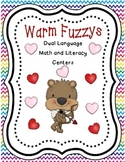 Warm Fuzzys: Dual Language Math and Literacy Centers