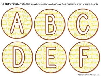 Warm Gingerbread Alphabet Cards