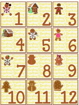 Warm Gingerbread Calendar