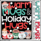 Warm Mugs and Holiday Hugs Christmas Bulletin Board, Door Decor, or Poster