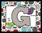 Warm & Red Polka Dots  - Posters / Cards / Mats - Alphabet