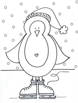 Warm Skating Penguin