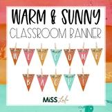 Warm & Sunny Watercolor Classroom Banner