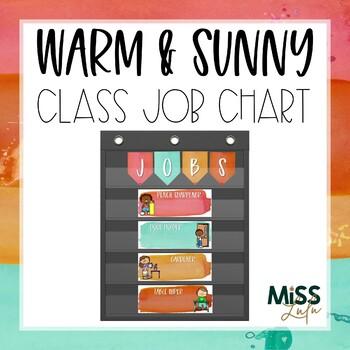 Warm & Sunny Watercolor Classroom Job Chart