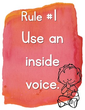 Warm & Sunny Watercolor Classroom Rules {Editable}