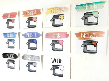Warm & Sunny Watercolor Shape and Color Posters