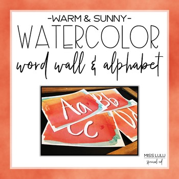 Warm & Sunny Watercolor Word Wall Headers
