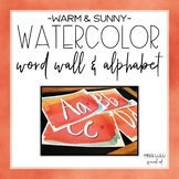 Warm & Sunny Watercolor Word Wall & Alphabet Posters