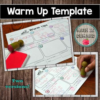 Warm Up (Bell Work)