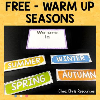 Warm Up Activity : Seasons