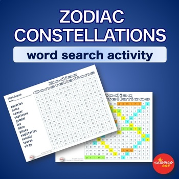 Warm Up * Bell Ringer * Constellations of Zodiac * Word Search Activity