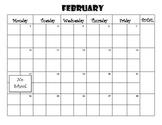 Warm Up Calendar for February