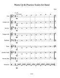 Warm Up Scales for Middle School Band