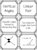 Special Angle Pairs Card Sort