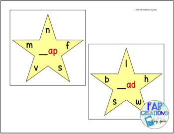 Short Vowel Warm-Up Stars and Warm-Up Sheets