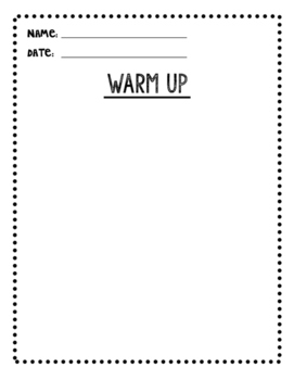 Warm Up Template