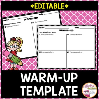 Warm-Up Template *EDITABLE*