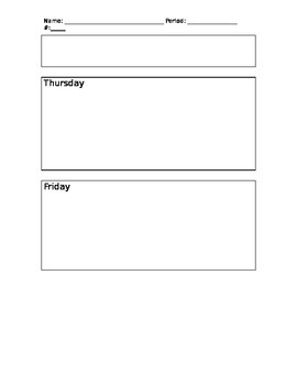Warm Up Template for Middle School