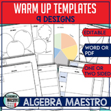 Warm-Up Templates