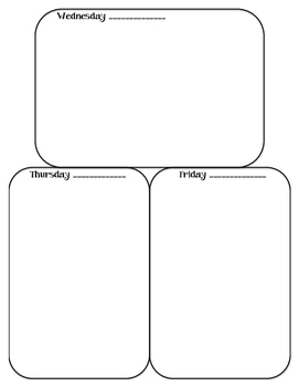 Warm Up Weekly Handout