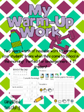 Warm-Up Work/Morning Activities {Simplified Teaching}