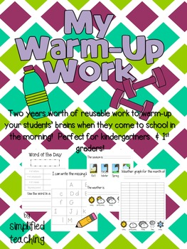 Warm-Up Work/Morning Activities {Simplified Teaching}