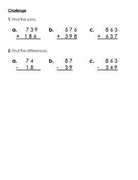 Warm-Up Worksheet 1 - 2nd Grade