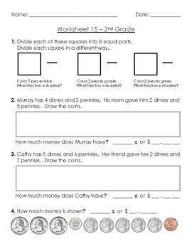 Warm-Up Worksheet 15 - 2nd Grade