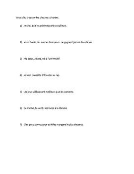 Warm-Up activity: translation practice (activities)