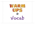 Warm Up and Vocab Folder