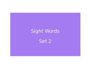 Warm Ups Sight words set 2