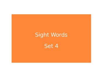 Warm Ups Sight words set 4