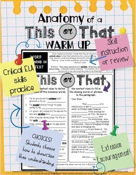 5 minutes warm up classroom activities pdf