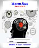 Warm Ups for German- Booklet #1: Basic Refresher (Classroo